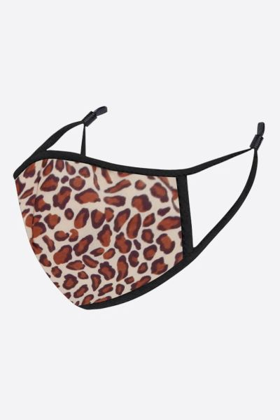 Neutral Leopard Print Face Mask