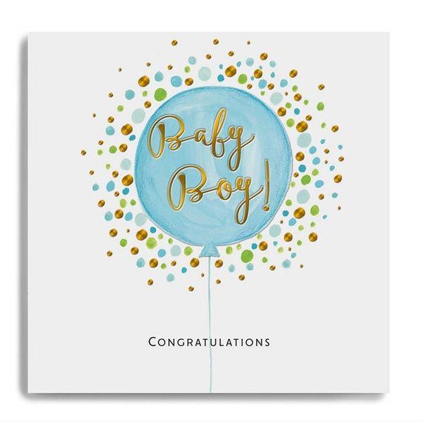 Congratulations Baby Boy- Blue Balloon