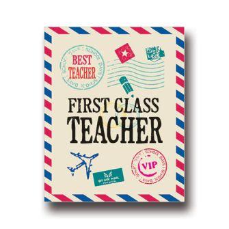 First Class Teacher Card