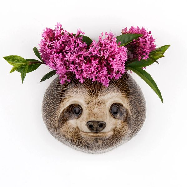 Sloth Wall Vase Small