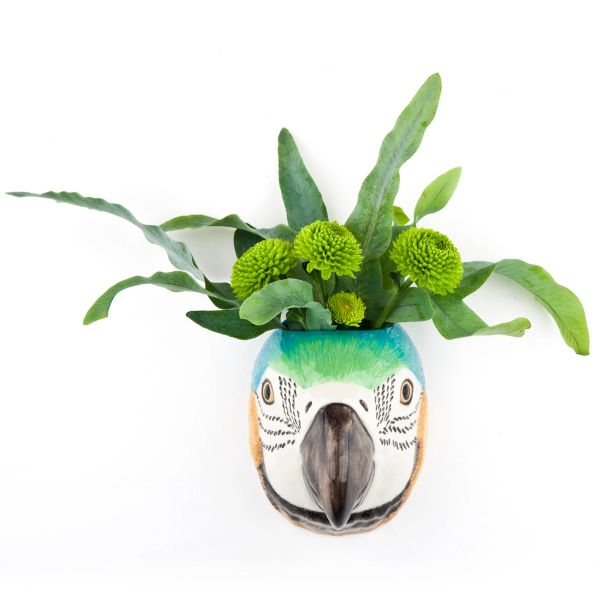 Macaw Face Wall Vase Small