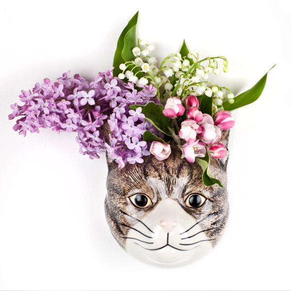 Millie Cat Wall Vase by Quail