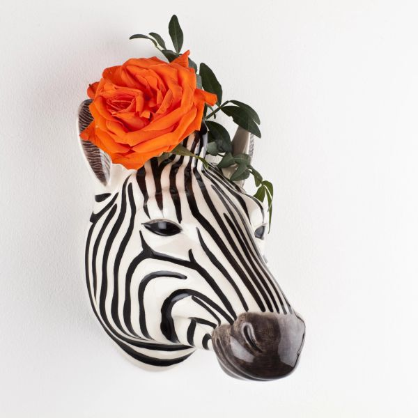 Zebra Wall Vase by Quail