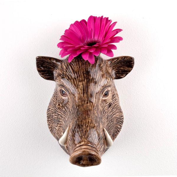 Wild Boar Wall Vase by Quail