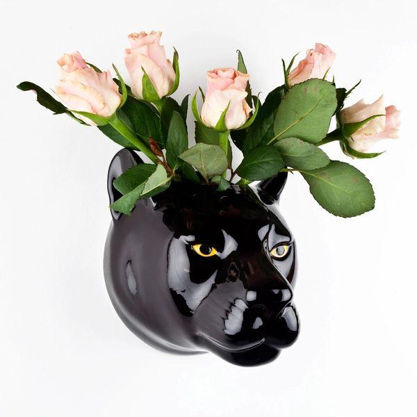 Black Panther Wall Vase