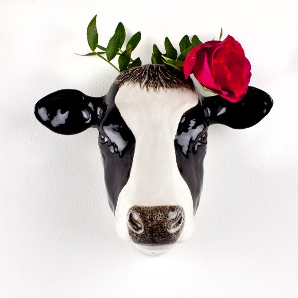 Friesian Cow Wall Vase by Quail