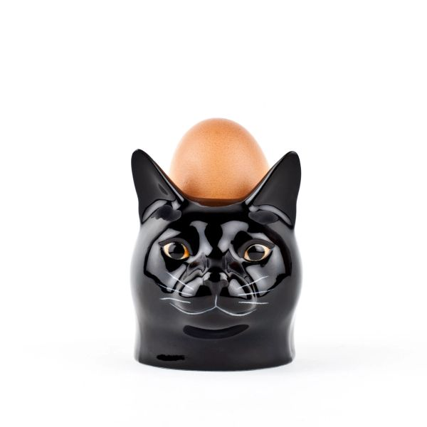 Black Cat (Lucky) Face Egg Cup by Quail