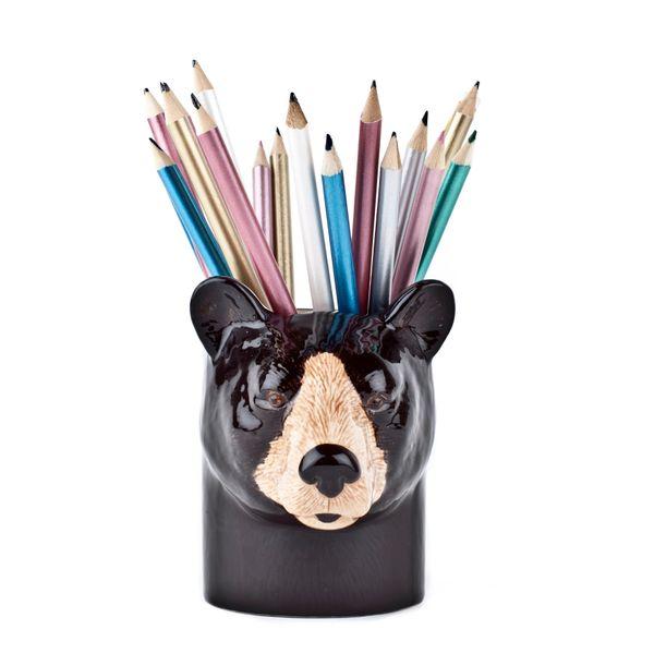 Brown Bear Pen Pot by Quail