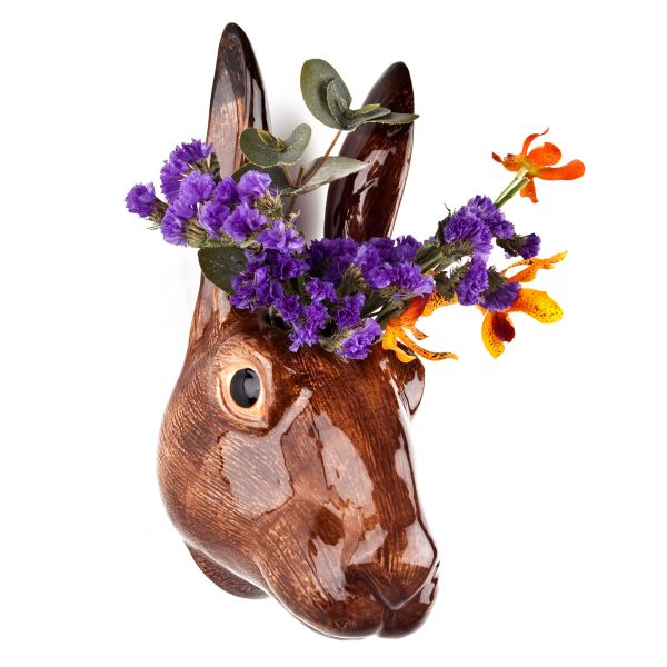 Hare Wall Vase by Quail Ceramics