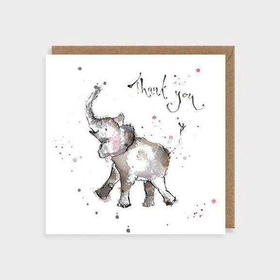 Thank You Elephant Card WL30