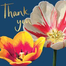 Thank You Floral Foil
