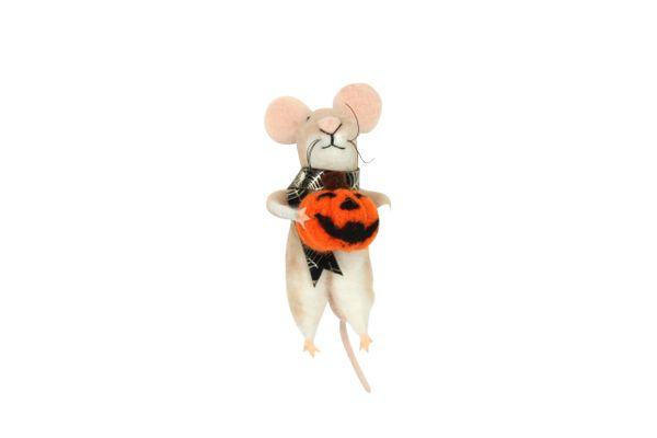Felt Mouse with Pumpkin