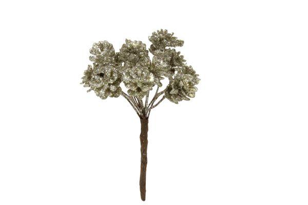 Pale Gold Glitter Acrylic Mini Cone Bunch Pic