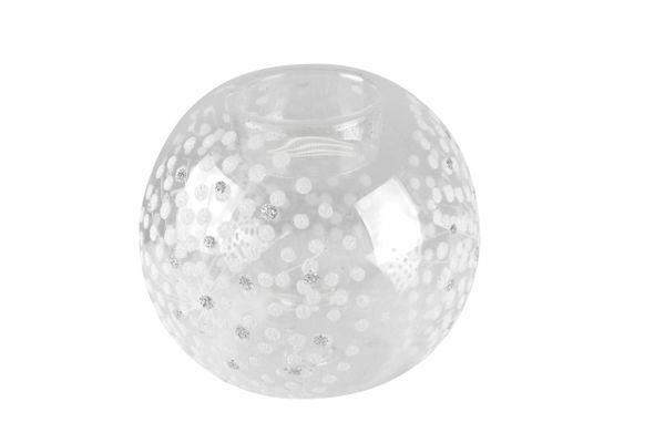 Clear / Irid Starburst Glass Tealight Ball