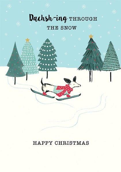 Dachsh-ing Through The Snow Card