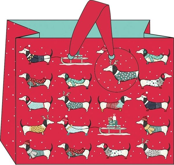 Frank Sausage Dog Gift Bag - Landscape