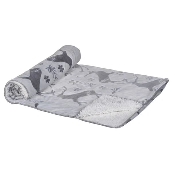 Grey and White Cosy Christmas Throw