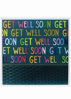 GET WELL SOON Jumbo Card jj1819