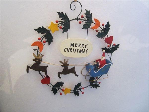 Santa in Festive Wreath