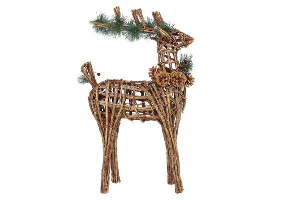 Small Wicker Deer Decoration