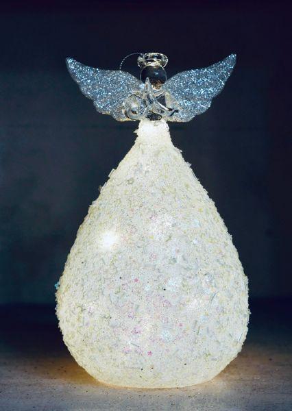 Glittery Glass Light Up Angel