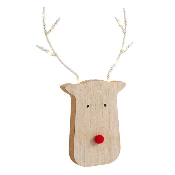 Large LED reindeer with light up antlers