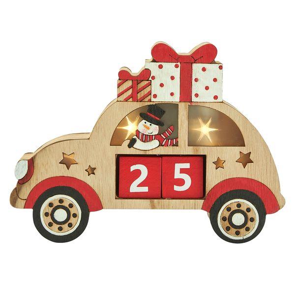 Christmas countdown - snowman in car