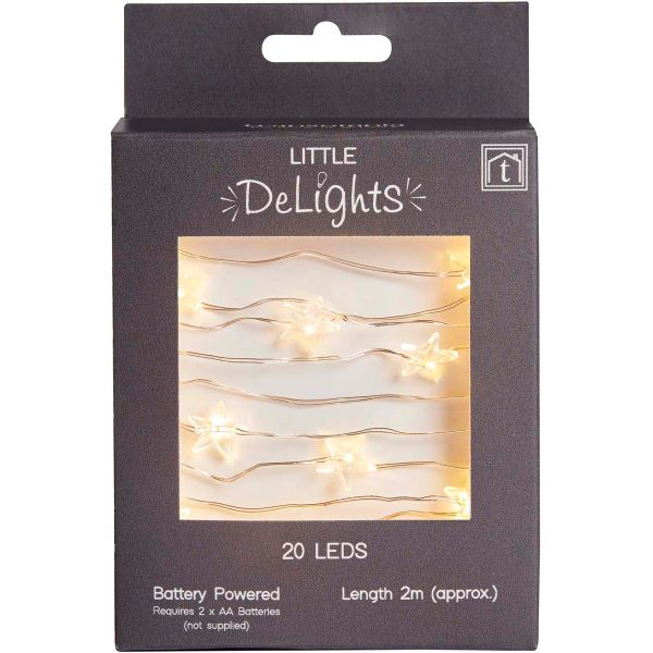 LED stars string light (20 LEDs)