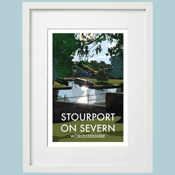 Stourport Framed Print inc. Funfair