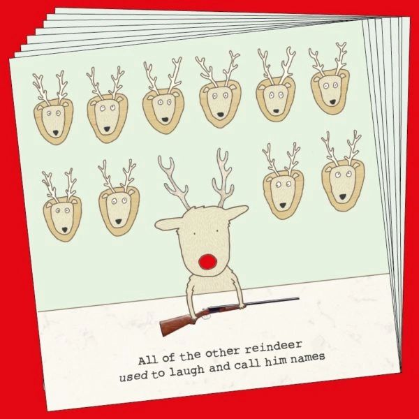 Rudolph Box of 8 cards By Rosie Made A Thing