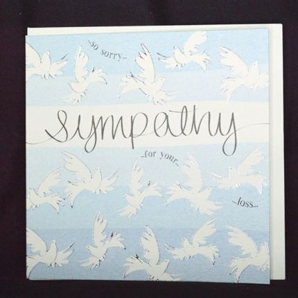 Sympathy - So Sorry For Your Loss Card Q779