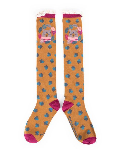 Nerd Bear Knee High Socks