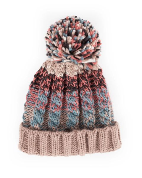 Astrid Bobble Hat - Teal Mix