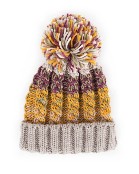Astrid Bobble Hat - Damson Mix