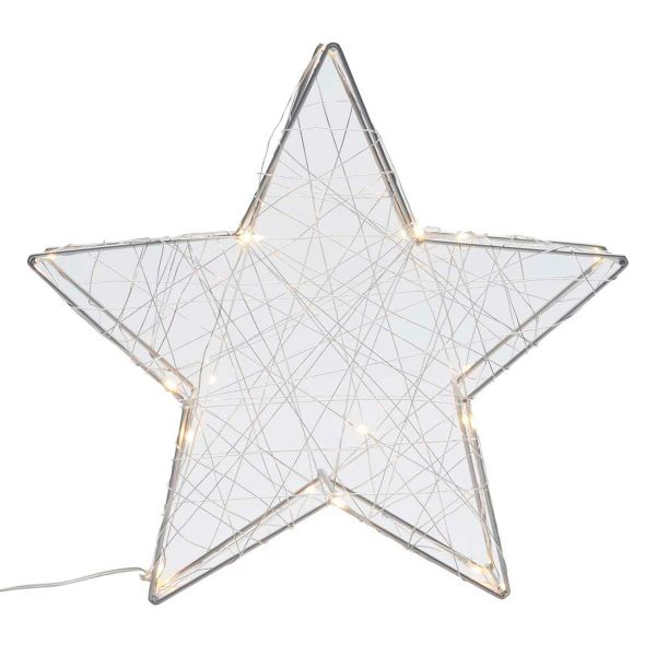 Large Light Up Wire Star Decoration