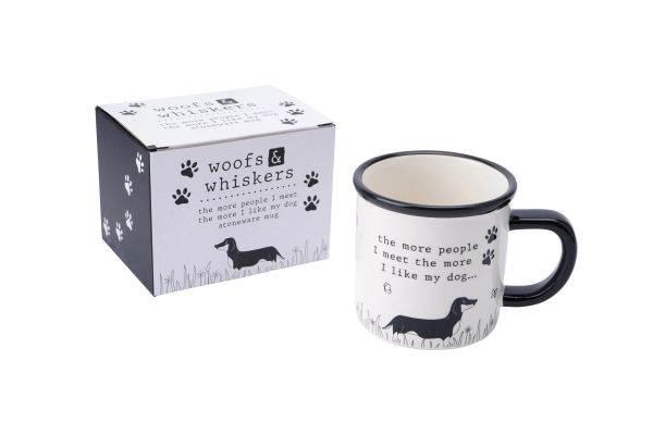 'THE MORE PEOPLE I MEET...' STONEWARE MUG - Boxed