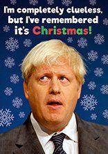 Clueless Boris Funny Christmas Card DMX11