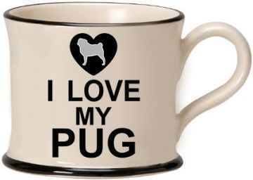 I love my Pug Mug by Moorland Pottery