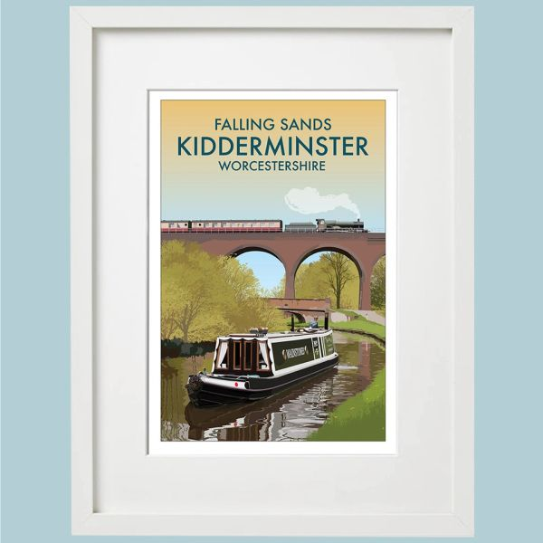 Falling Sands - KIDDERMINSTER - Framed A3 Print