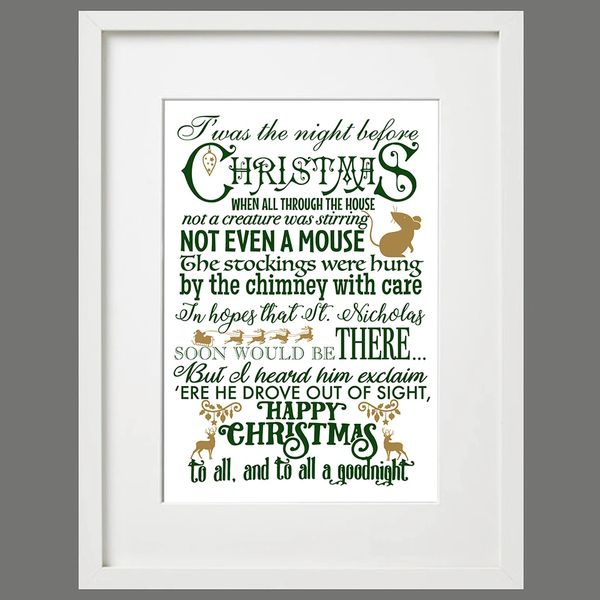 Twas the Night Before Christmas - A3 Framed Print