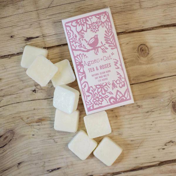 TEA & ROSES - Box of 8 Wax Melts