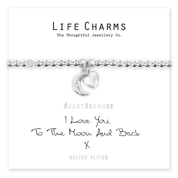 Love You To The Moon and Back Life Charm