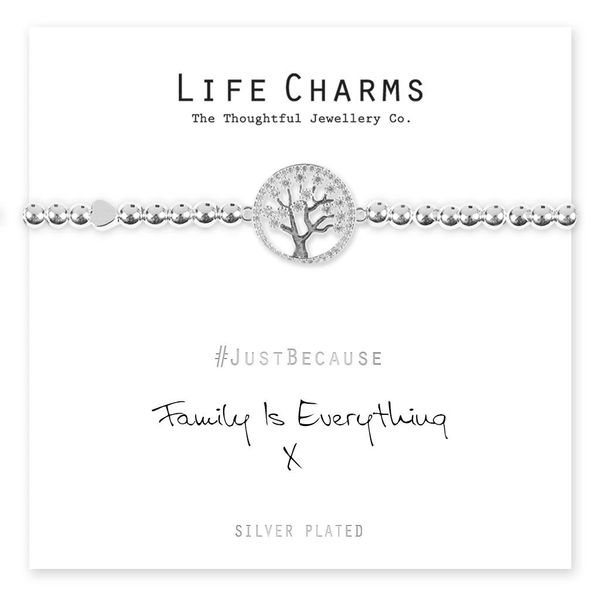 Family Is Everything Bracelet Life Charm