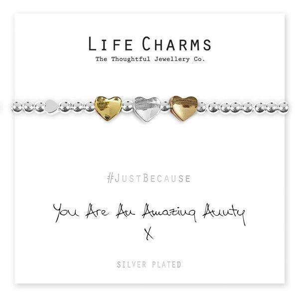 Amazing Aunty Hearts Bracelet Life Charm