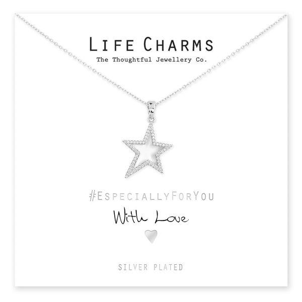 EFY Silver CZ Star Necklace