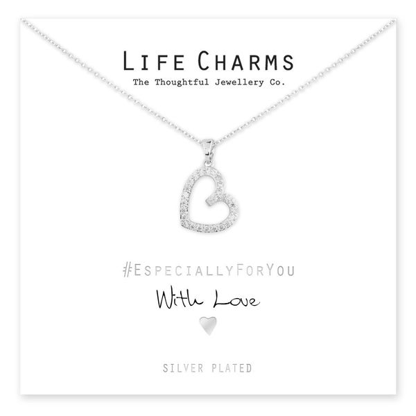 EFY Silver Open Heart Necklace
