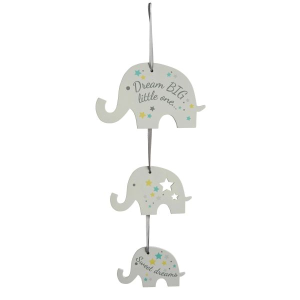Dream Big Little One Elephant Baby Sign