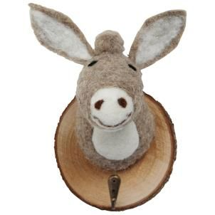 Felt Donkey Trophy Head