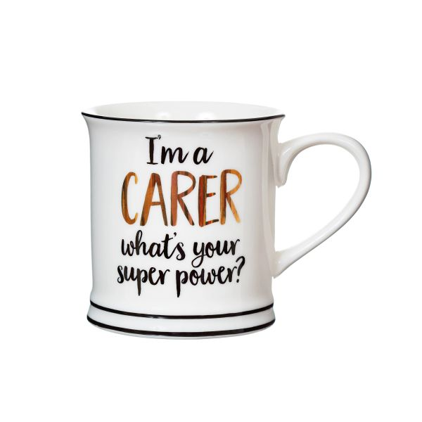 I'M A CARER WHAT'S YOUR SUPER POWER MUG (boxed)