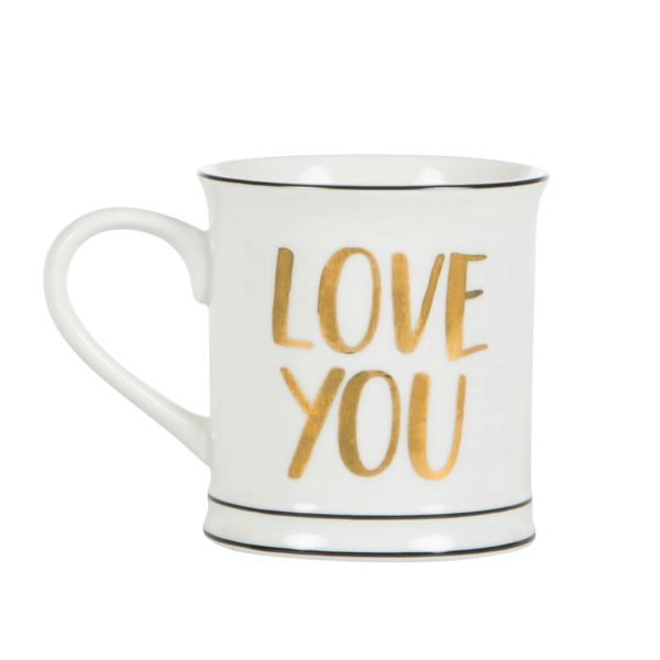 Love You Mug with message inside (boxed)